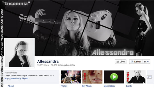 Band Musician Customized Facebook Page Design
