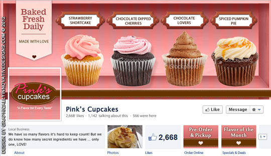 Custom Bakery Facebook Cover Design