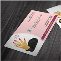 Nail Training Hand Invention Business Card