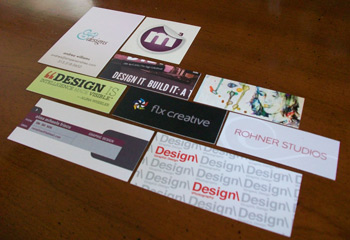 Different Shapes Sizes Custom Cut Business Cards