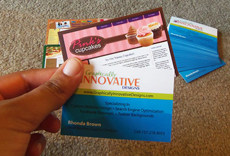 My Moo Business Cards Back