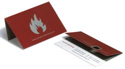 unique fold over business cards for your small business