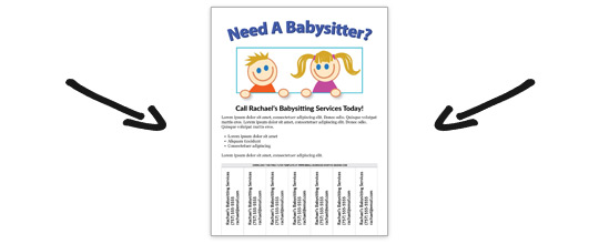 free babysitting flyer templates