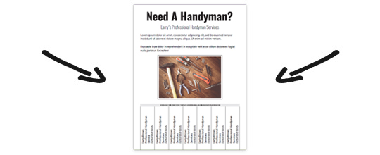 Download a Free Handyman Flyer Template