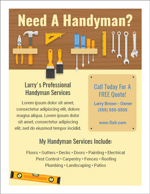 Easy handyman flyer