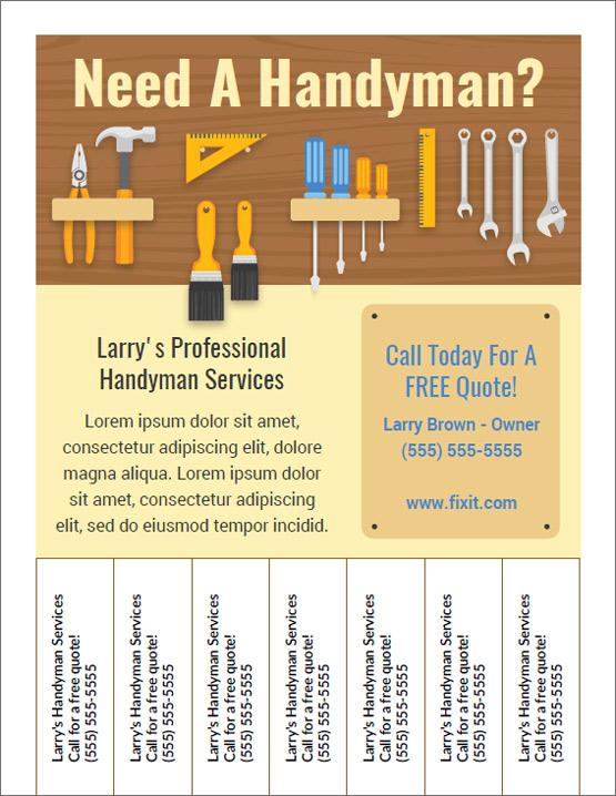 best handyman flyers for sale
