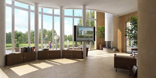 Inside a modern house
