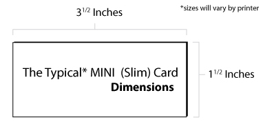 Mini Business Card Dimensions