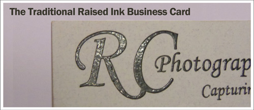 All About Raised Business Cards