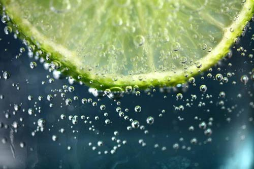 Lime in water