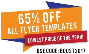 65% Off Flyer Templates - Lowest Price Of The Year - Sale Ends January 31, 2017