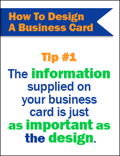 How to desgin a business card tip