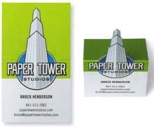 Folded-business-card