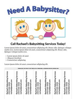 Babysitting templates free vatozozdevelopment free flyer templates online fbccfo Choice Image