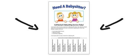 free babysitting flyer template. Black Bedroom Furniture Sets. Home Design Ideas