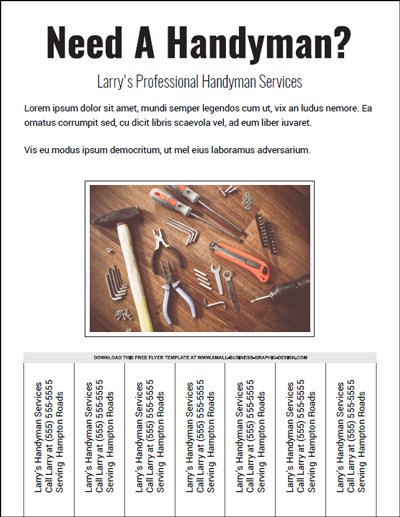 Preview of Handyman Flyer template